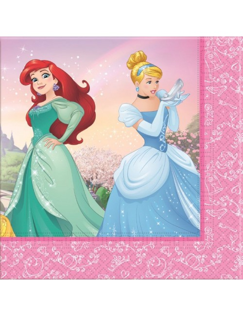Set 20 servetele Printese Disney, 33 x 33 cm