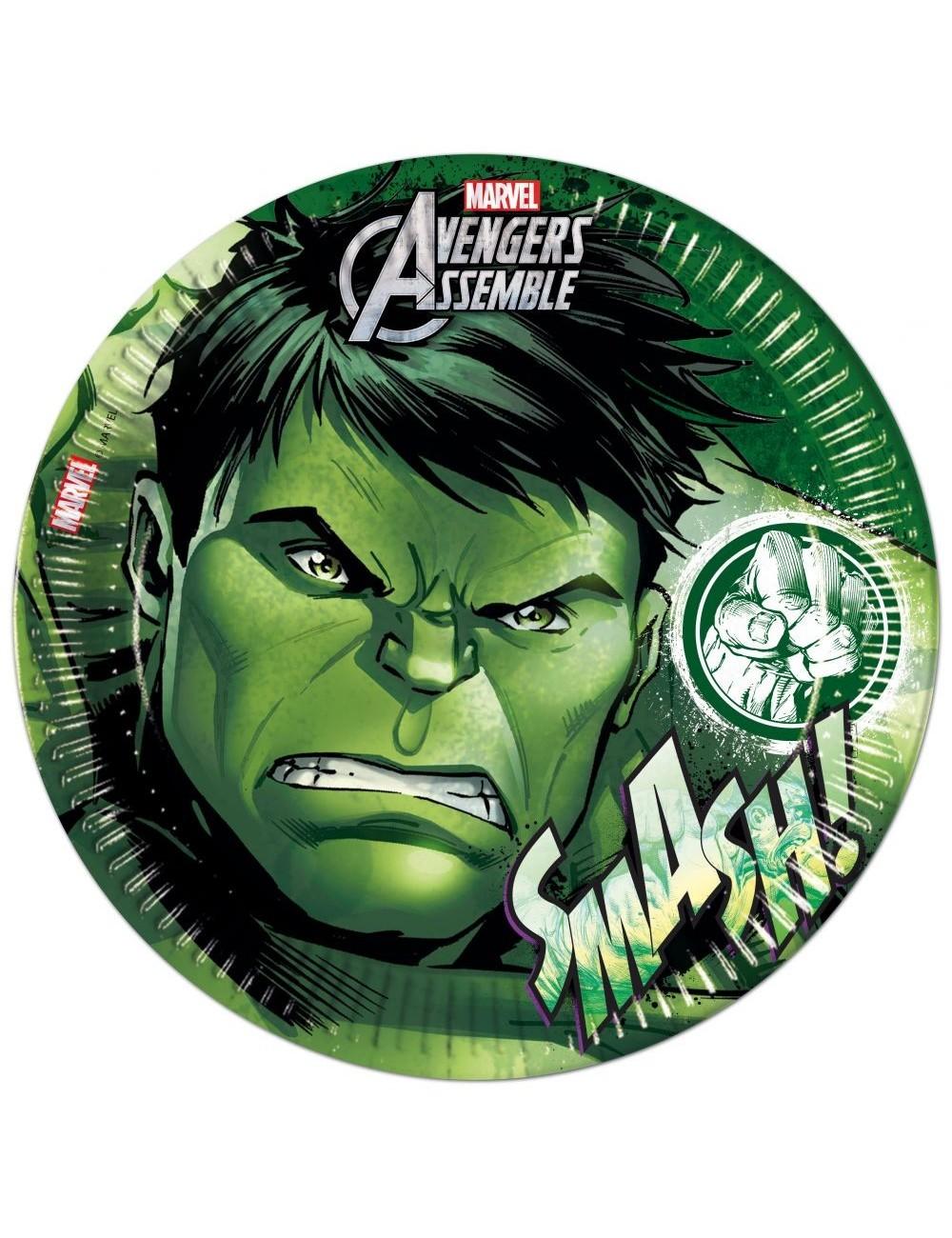 Set 8 farfurii petrecere, Hulk Avengers, 23 cm