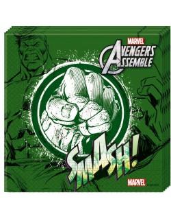 Set 20 servetele Hulk Avengers, 33 x 33 cm