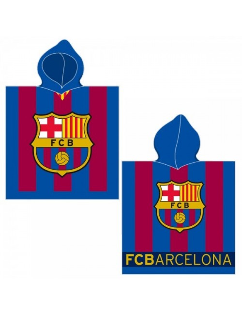 Prosop poncho copii, FC Barcelona, 60 x 120 cm