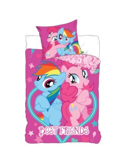 Lenjerie de pat My Little Pony Best Friends, 160 x 200 cm