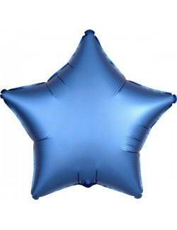 Balon folie Stea, Satin Luxe, albastru, 48 cm