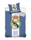 Lenjerie pat, Real Madrid, alb-albastru, 160 x 200 cm