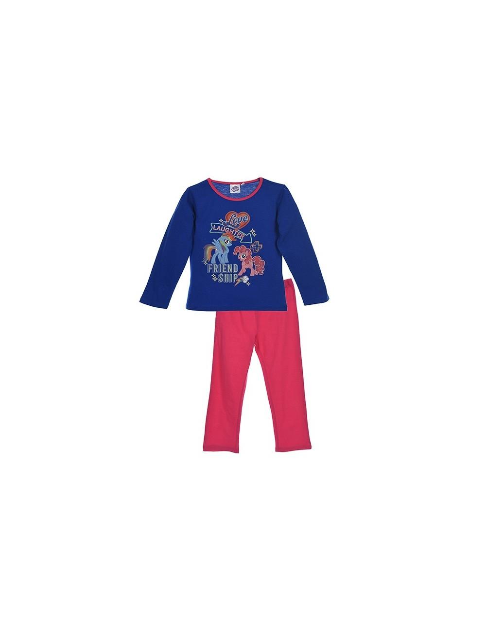 Pijama Micii Ponei, albastru-fucsia, fete 3 - 8 ani
