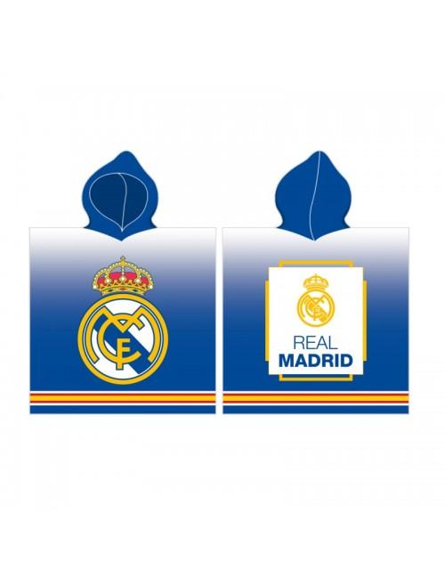 Prosop poncho, Real Madrid, albastru, 60 x 120 cm