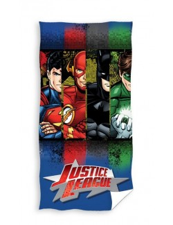 Prosop plaja / baie, Justice League, 140 x 70 cm