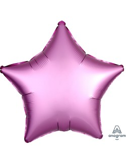 Balon folie Stea, Satin Luxe, roz, 48 cm
