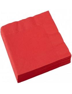 Set 20 servetele Rosii, 25 x 25 cm