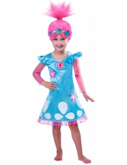Costum Poppy Trolls, copii 7-8 ani