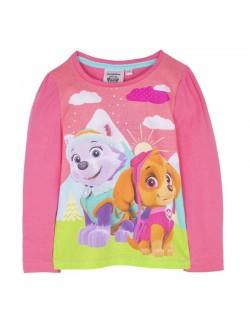 Bluza Paw patrol Skye si Everest, roz, copii 3-6 ani