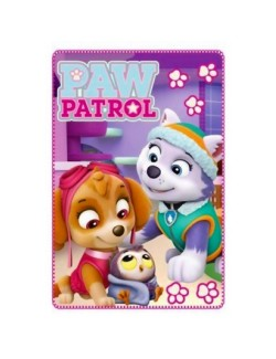 Patura copii, Skye si Everest Paw Patrol, mov, 100 x150 cm