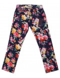 Pantaloni Emoi, negri cu imprimeu floral, 128 - 164 cm