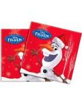 Set 20 servetele, Olaf Disney Frozen, 33 x 33 cm
