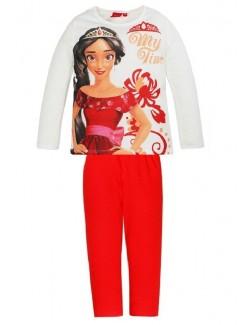 Pijama Elena din Avalor, fete 3-6 ani, alb-rosu