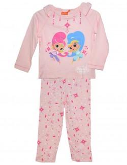 Pijama copii, Shimmer si Shine. 3- 6 ani, roz