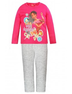 Pijama Elena din Avalor, fete 3-6 ani, fucsia - gri