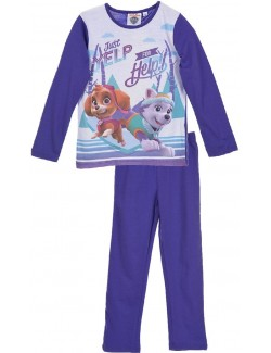 Pijama fete, Paw Patrol Skye si Everest, mov, 3-6 ani