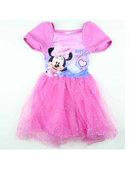 Rochie Minnie Mouse tutu roz 98 - 128 cm