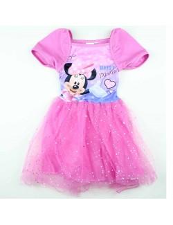 Rochie Minnie Mouse tutu, roz, 104-134 cm