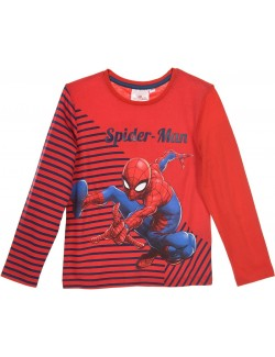 Bluza copii, Spiderman, 3-8 ani, rosu