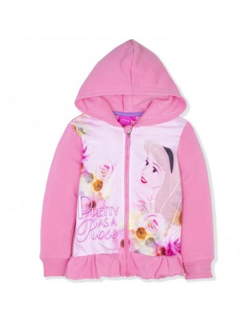Hanorac Printese Disney, copii 3-6 ani, roz pal