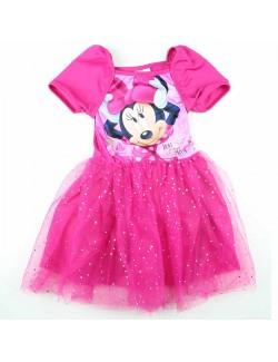 Rochie tutu, Minnie Mouse, copii 4-9 ani, fucsia
