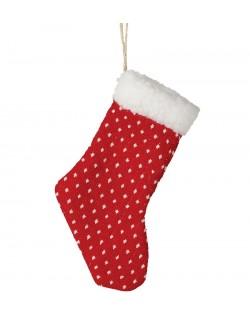 Ciorapel rosu pentru daruri Craciun, 16 cm