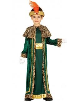 Costum serbare Rege Mag, verde, copii 3-12 ani