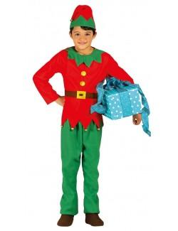 Costum Elf / Spiridus cu clopotei, copii 3-9 ani