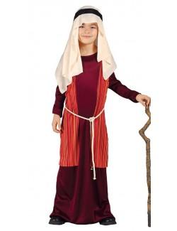 Costum Sfantul Iosif / Pastor, rosu, copii 5/6 ani