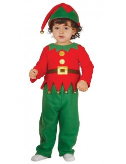 Costum Elf / Spiridus cu clopotei, bebelusi 1-2 ani