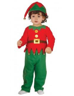 Costum Elf / Spiridus cu clopotei, bebelusi 6-24 luni