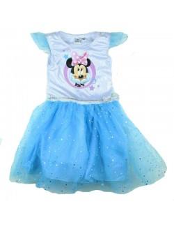 Rochie tutu, Minnie Mouse, bleu, copii 4-9 ani