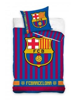 Lenjerie pat FC Barcelona, 160 x 200 cm