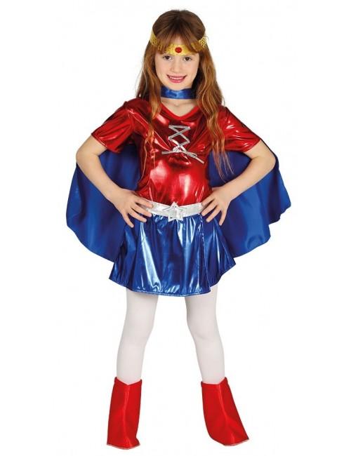 Costum copii, Supereroina Power Woman. 5-12 ani