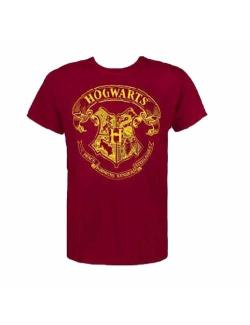 Tricou Harry Potter Hogwarts, grena, S-XXL