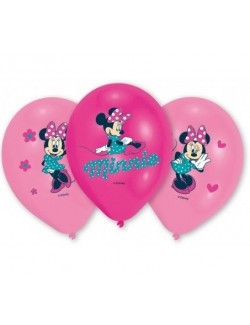 Set 6 baloane Minnie Mouse, 27,5 cm