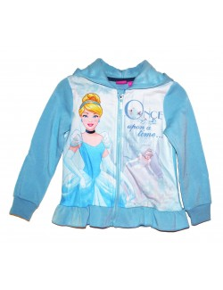Hanorac Printese Disney, copii 3-6 ani, bleu