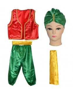Costum copii, Turc / Aladin, 5-7 ani, rosu-verde
