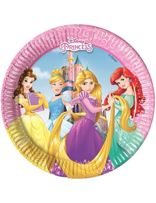 Set 8 farfurii Printesele Disney, carton, 20 cm