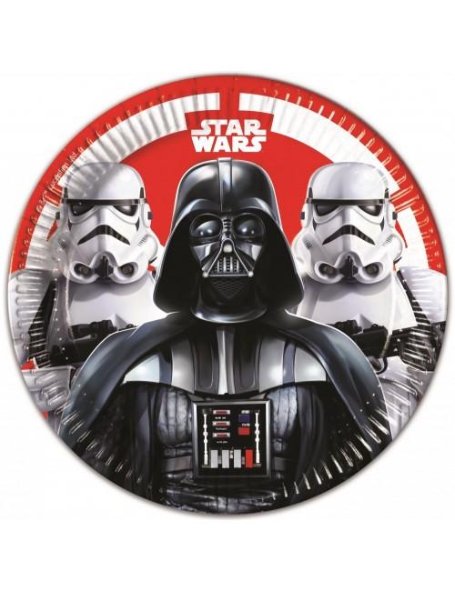 Set 8 farfurii petrecere, Star Wars Darth Vader, 23 cm