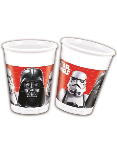 Set 8 pahare plastic, 200 ml, Star Wars - Darth Vader