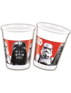 Set 8 pahare plastic, 200 ml, Star Wars - Darth Vader