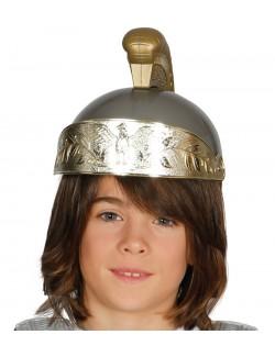 Casca soldat roman, gri-argintiu, pentru copii