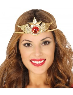 Diadema metalica aurie, Power woman