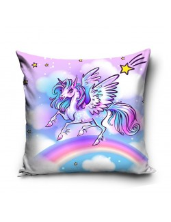 Fata de perna Rainbow Unicorn, 40 x 40 cm