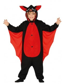 Costum Liliac, negru-rosu, copii 5-12 ani