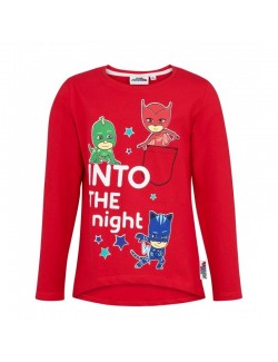 Bluza Eroii in pijamale, copii 3-8 ani, rosie