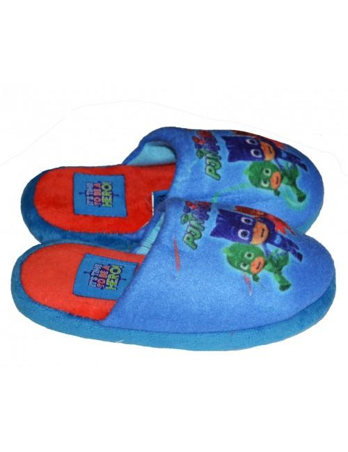 Papuci casa, Eroii in pijamale, 23-30, albastru - rosu