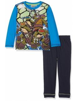 Pijama Testoasele Ninja, baieti 3-8 ani, albastra